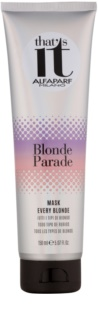 Alfaparf Milano That s it Blonde Parade поживна маска для освітленого волосся