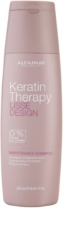 Alfaparf Milano Lisse Design Keratin Therapy Gentle Cleansing Shampoo without Sulfates and Parabens