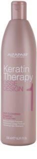 Alfaparf Milano Lisse Design Keratin Therapy champú limpiador en profundidad para todo tipo de cabello