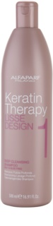 Alfaparf Milano Lisse Design Keratin Therapy Deep Cleanse Clarifying Shampoo for All Hair Types