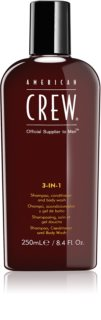 American Crew Hair & Body 3-IN-1 sampon, balsam si gel de dus 3in1 pentru barbati