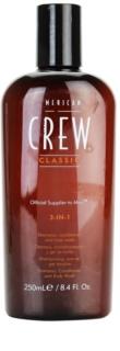 American Crew Classic σαμπουάν, μαλακτικό και τζελ για ντους 3 σε 1 για άντρες
