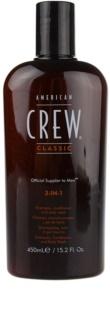 American Crew Classic shampoing, après-shampoing et gel douche 3 en 1 pour homme
