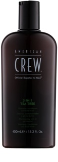 American Crew Tea Tree Shampoo, Conditioner and Shower Gel 3 in 1 For Men