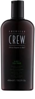 American Crew Tea Tree шампоан, балсам и душ гел 3 в 1 за мъже