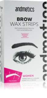 andmetics Brows Depilatory Wax Strips for Eyebrows
