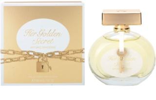 Antonio Banderas Her Golden Secret Eau de Toilette para mulheres 80 ml