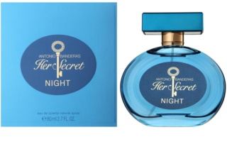 Antonio Banderas Her Secret Night Eau de Toilette für Damen 80 ml