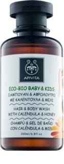 Apivita Eco-Bio Baby & Kids gel de banho e champô para crianças para uso diário