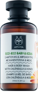 Apivita Eco-Bio Baby & Kids Baby Washing Gel and Shampoo for Everyday Use