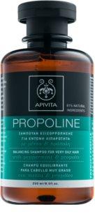 Apivita Holistic Hair Care Pepermint & Propolis шампунь для дуже жирного волосся