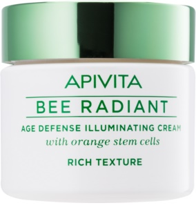 Apivita Bee Radiant creme iluminador anti-envelhecimento