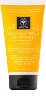Apivita Holistic Hair Care Olive & Honey поживний кондиціонер для сухого та чутливого волосся