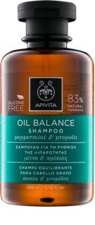 Apivita Holistic Hair Care Pepermint & Propolis шампунь для жирного волосся