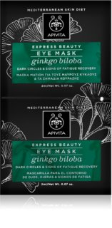 Apivita Express Beauty Ginkgo Biloba μάσκα ματιών κατά του πρηξίματος και μαύρους κύκλους