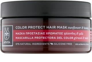 Apivita Holistic Hair Care Sunflower & Honey maseczka  chroniący kolor