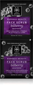 Apivita Express Beauty Bilberry Teder Gezichtspeeling  voor Onmiddelijke Straling