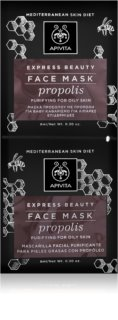 Apivita Express Beauty Propolis Deep Cleansing Mask for Oily Skin