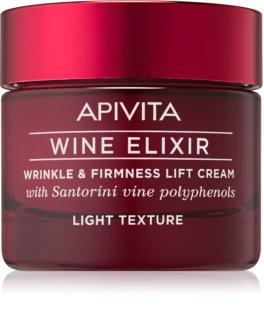 Apivita Wine Elixir Santorini Vine cremă antirid ușoară cu efect de întărire