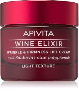 Apivita Wine Elixir Santorini Vine creme antirrugas leve com efeito reafirmante