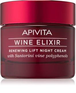 Apivita Wine Elixir Santorini Vine creme de noite renovador com efeito lifting