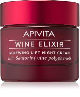 Apivita Wine Elixir Santorini Vine αποκαταστατική κρέμα νύχτας με  λιφτινγκ  αποτελέσματα