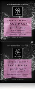 Apivita Express Beauty Pink Clay Gentle Cleansing Mask For Immediate Brightening