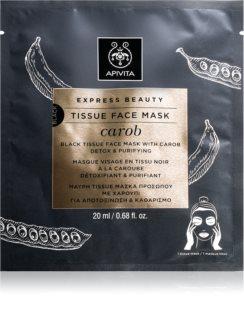 Apivita Express Beauty Carob detoxikačná plátenná maska