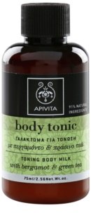 Apivita Body Tonic Bergamot & Green Tea тонізуюче молочко для тіла