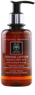 Apivita Cleansing Honey & Orange lotion tonique pour peaux normales et sèches