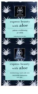 Apivita Express Beauty Aloe hydratačná pleťová maska
