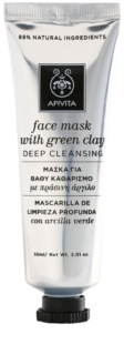 Apivita Express Beauty Green Clay дълбоко почистваща маска за лице