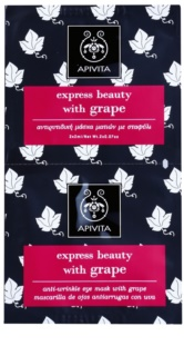 Apivita Express Beauty Grape mascarilla antiarrugas para contorno de ojos