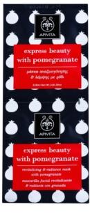 Apivita Express Beauty Pomegranate revitalizační a rozjasňující pleťová maska