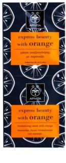 Apivita Express Beauty Orange revitalisierende Gesichtsmaske