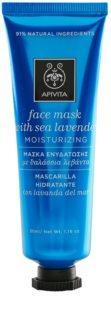 Apivita Express Beauty Sea Lavender зволожуюча маска з антиоксидантними властивостями для шкіри обличчя