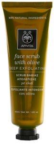 Apivita Express Beauty Olive дълбоко почистващ пилинг за лице