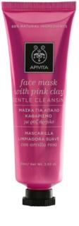 Apivita Express Beauty Pink Clay gyengéd tisztító arcpakolás