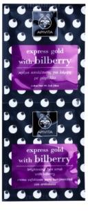 Apivita Express Gold Bilberry пилинг маска за озаряване на лицето