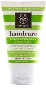 Apivita Hand Care Aloe & Honey Lichte Hydraterende Crème  voor Handen en Nagels