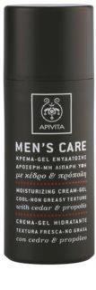 Apivita Men's Care Cedar & Propolis gel krema s hidratantnim učinkom