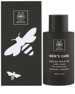 Apivita Men's Care Cedar & Cardamom Eau de Toilette para homens 100 ml