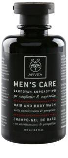 Apivita Men's Care Cardamom & Propolis Shampoo en Douchegel 2in1