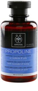 Apivita Holistic Hair Care Lavender & Honey champô para o couro cabeludo sensível