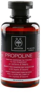 Apivita Holistic Hair Care Lupin & Laurel тониращ шампоан за разредена коса
