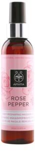 Apivita Rose Pepper Body Reshaping Massage Oil
