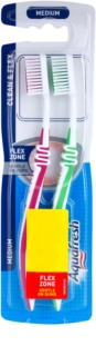 Aquafresh Clean & Flex medium fogkefék 2 db