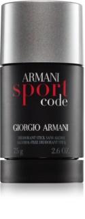 Armani Code Sport Deodorant Stick voor Mannen 75 ml