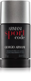 Armani Code Sport Deodorant Stick for Men 75 ml