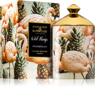 Ashleigh & Burwood London Wild Things Pinemingos bougie parfumée 320 g  (Coconut & Lychee)